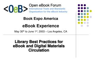 Library Best Practices for eBook and Digital Materials ...