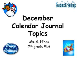 December Calendar  Journal Topics