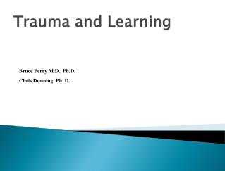 Trauma and Learning