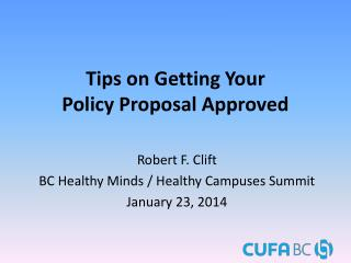 Tips  on Getting Your Policy Proposal Approved