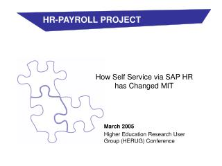 How Self Service via SAP HR has Changed MIT