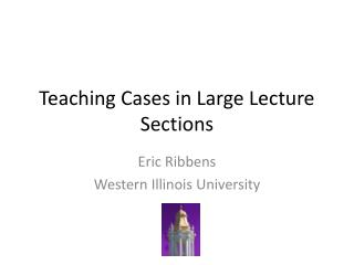 Teaching Cases in Large Lecture Sections