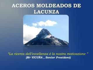 ACEROS MOLDEADOS DE LACUNZA