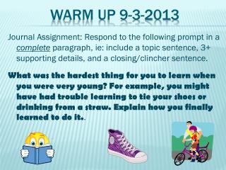 Warm Up  9-3-2013