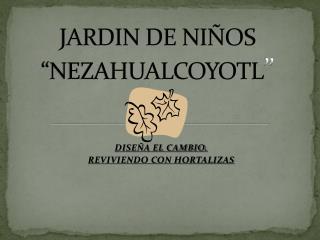 """JARDIN DE NIÑOS """"NEZAHUALCOYOTL """""""