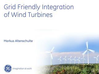 Grid Friendly Integration of Wind Turbines