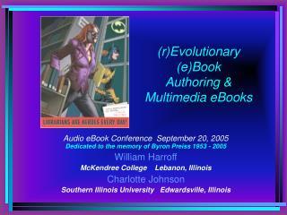 rEvolutionary eBooks: One Future for ArtReadingWriting ...