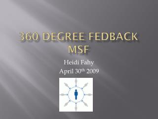 360 degree  fedback MSF