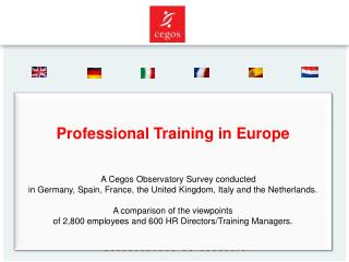Professional Training in Europe  A Cegos Observatory Survey conducted