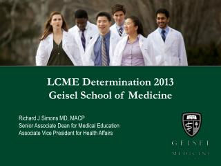 LCME Determination 2013 Geisel School of Medicine
