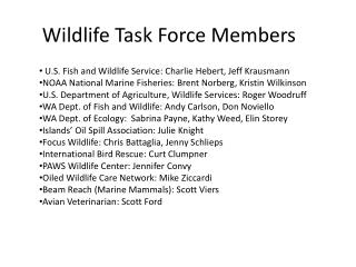 Wildlife Task Force Members