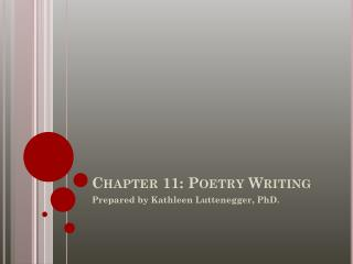 Chapter 11: Poetry Writing