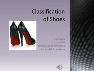 Classification  of Shoes
