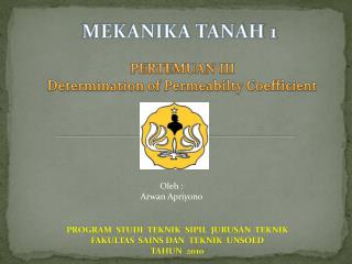 MEKANIKA TANAH 1