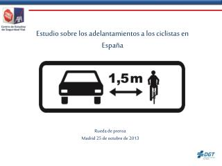 Estudio sobre los adelantamientos a los ciclistas en España