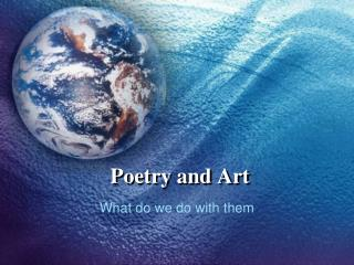 Poetry and Art