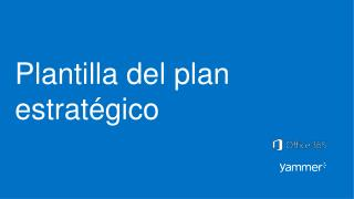 Plantilla del plan estratégico