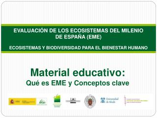 Material  educativo: Qué es EME y  Conceptos clave