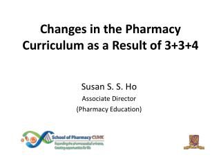 Changes in the Pharmacy Curriculum as a Result of 3+3+4