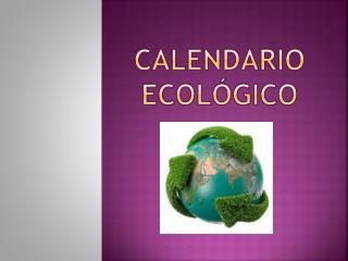 Calendario ecológico