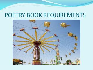 POETRY BOOK REQUIREMENTS