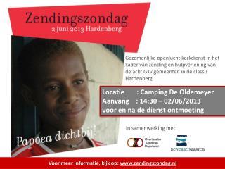 Voor meer informatie, kijk op:  www.zendingszondag.nl