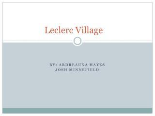 Leclerc  Village