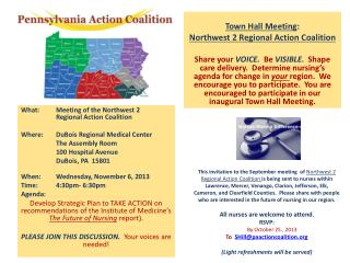 Town Hall Meeting : Northwest 2 Regional Action Coalition