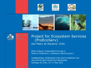 Project for Ecosystem Services (ProEcoServ)  San Pedro de Atacama -Chile