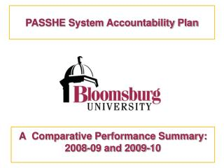 A  Comparative Performance Summary: 2008-09 and 2009-10