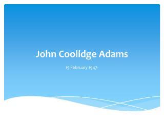 John Coolidge Adams