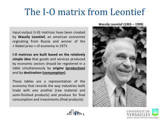 The I-O matrix  from  Leontief