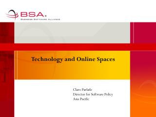 Technology and Online Spaces