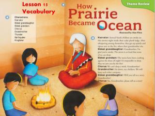 Lesson 15 Vocabulary