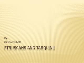 Etruscans and Tarquinii