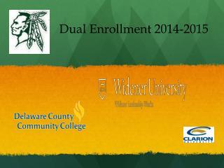 Dual Enrollment 2014-2015
