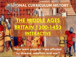 NATIONAL CURRICULUM HISTORY