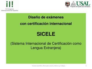 Diseño  de exámenes  con  certificación internacional SICELE
