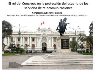 El rol del Congreso en la protección del usuario de los servicios de telecomunicaciones