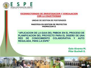 Galo  Alvarez  M. Pilar  Bucheli  S.