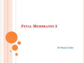 Fetal Membranes 2