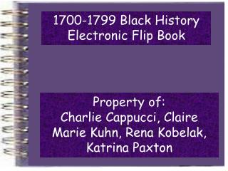 1700-1799 Black History Electronic Flip Book