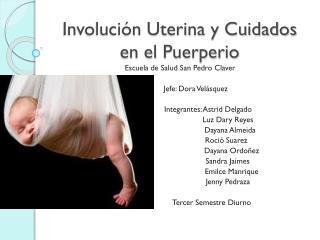 Involución Uterina y Cuidados en el Puerperio