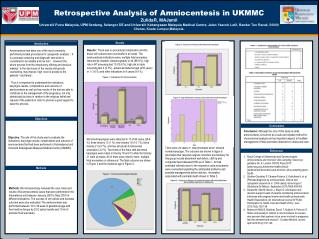 Retrospective Analysis of Amniocentesis in UKMMC