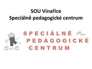 SOU Vina?ice Speci�ln? pedagogick� centrum