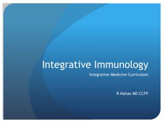 Integrative Immunology
