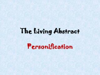 The Living Abstract