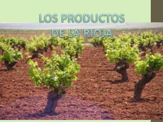 LOS PRODUCTOS  DE LA RIOJA