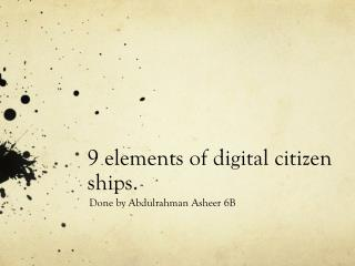 9 elements of digital citizen ships.