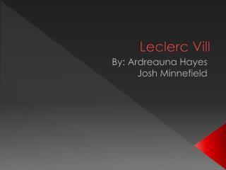 Leclerc Vill